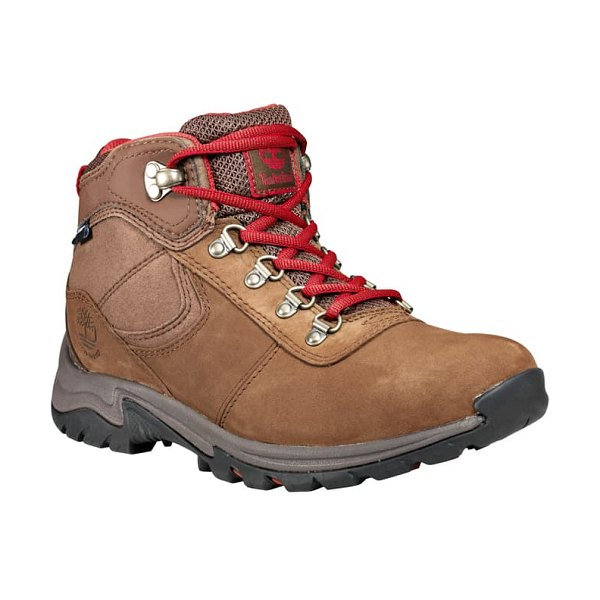 Timberland mt. maddsen waterproof hiking boot in rust nubuck leather