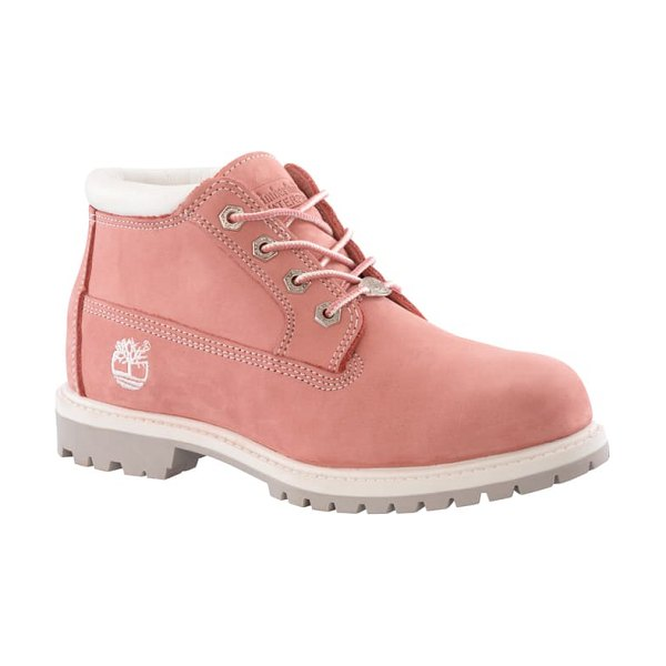 Timberland nellie waterproof chukka boot in pink nubuck leather