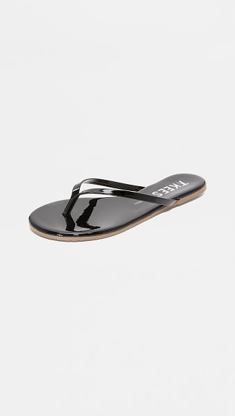 TKEES glosses flip flops in licorice