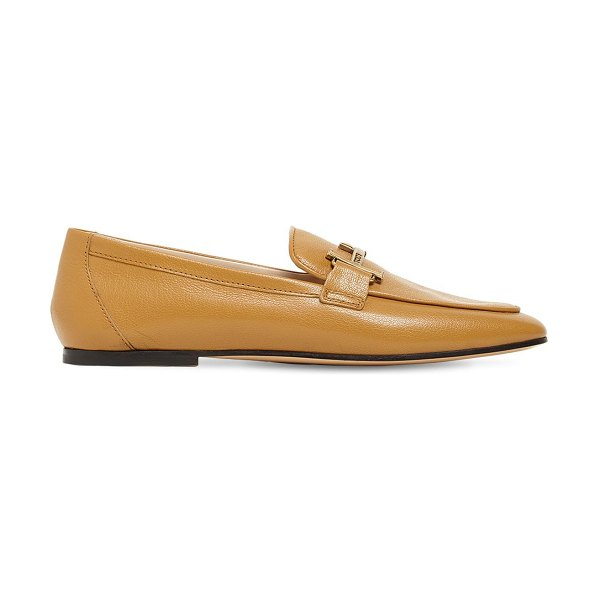 Tod's 10mm leather loafers in light brown