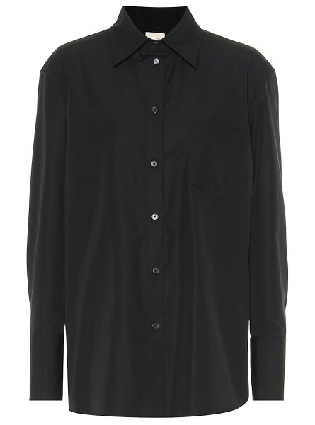 Tod's cotton-poplin shirt in black