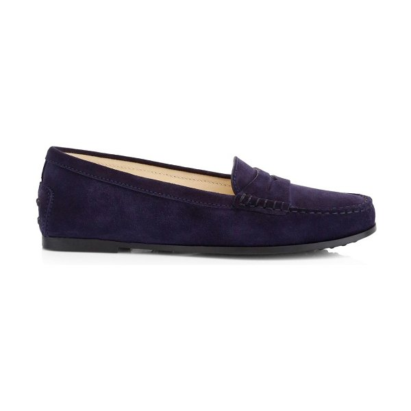 Tod's new city gommino suede loafers in blue