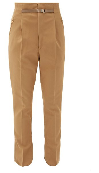 TOGA high-waist tailored trousers in beige