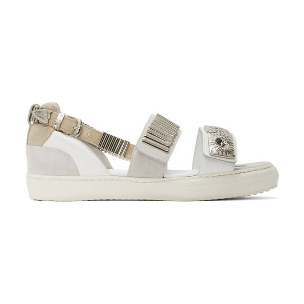 TOGA PULLA buckles flat sandals in white