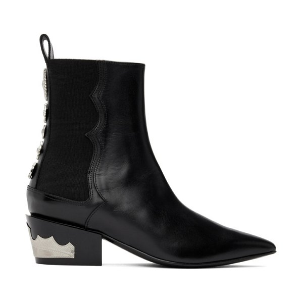 TOGA PULLA heel hardware boots in black