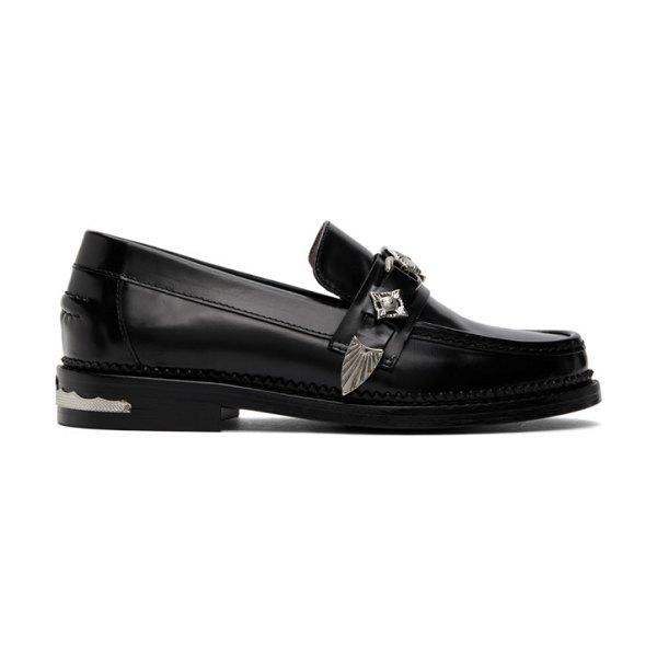 TOGA PULLA leather hardware loafers in black