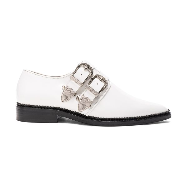 TOGA PULLA Leather Oxfords in white - Leather upper and sole.  Made in Portugal.  Approx 25mm/...