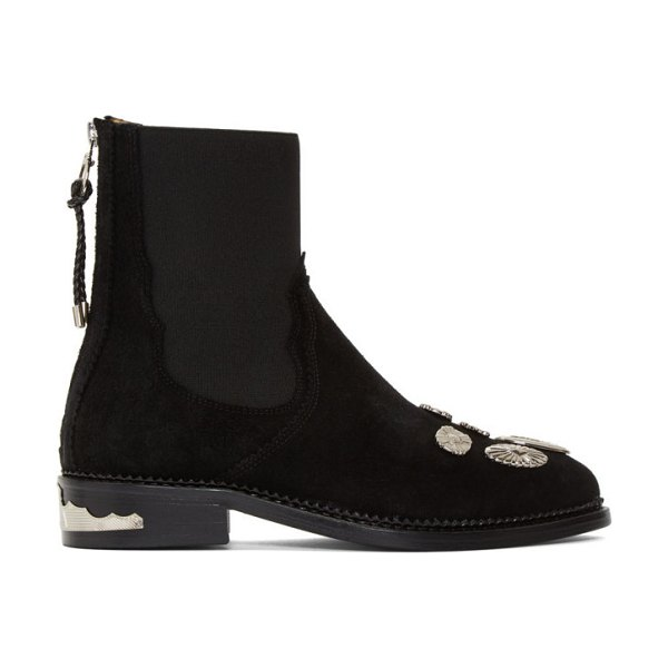TOGA PULLA suede hardware boots in black