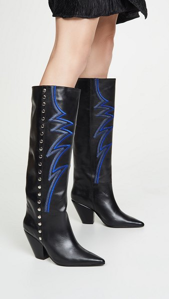 TOGA PULLA tall embroidered boots in black