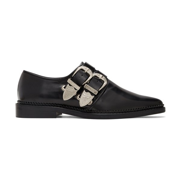 TOGA PULLA two buckle western oxfords in black