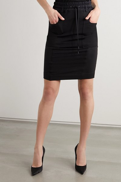 TOM FORD paneled jersey, twill and piqué skirt in black