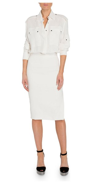 TOM FORD Patch Pocket Front Dress in white
