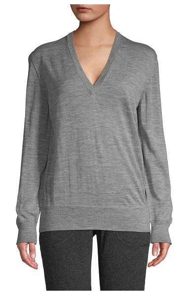 Tomas Maier Heathered Wool Sweater in grey