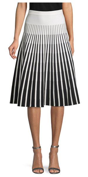 Tomas Maier Printed Banded Skirt in black white
