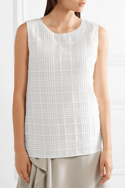 Tomas Maier textured cotton-gauze top in white