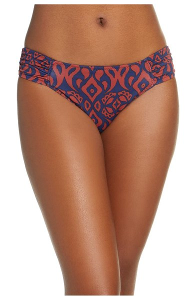 Tommy Bahama ikat diamonds reversible hipster bikini bottoms in mare navy