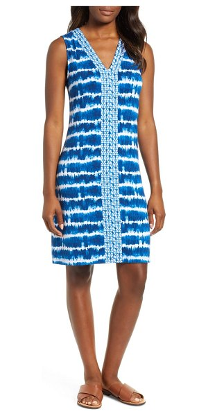 Tommy Bahama oliana stripe dress in blue - Ride the waves of eye-catching blues in a lively print...