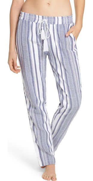 2240cd5805 Tommy Bahama Stripe Beach Cover-Up Jogger Pants in White | Shopstasy