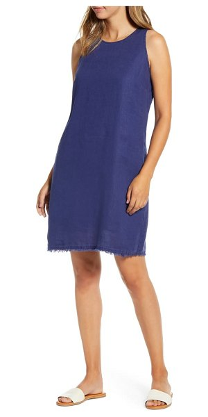 Tommy Bahama two palms frayed trim shift dress in island navy