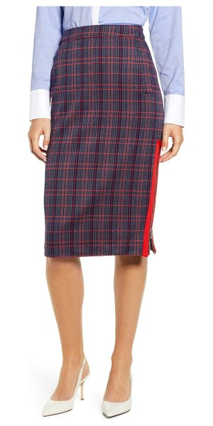 Tommy Hilfiger herringbone plaid pencil skirt in plaid tricoter