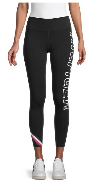 Tommy Hilfiger Sport Logo Workout Leggings in black
