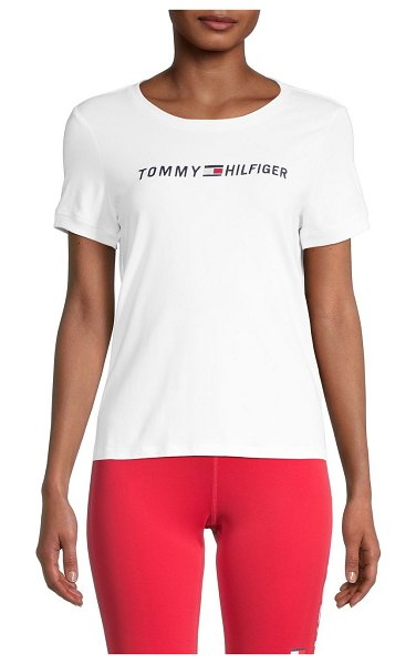 Tommy Hilfiger Stretch-Cotton Logo T-Shirt in white