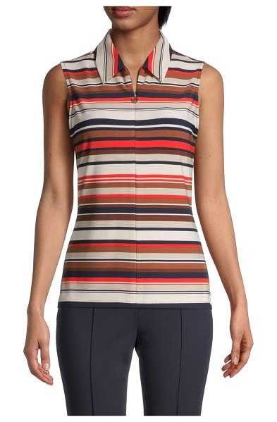Tommy Hilfiger Striped Sleeveless Top in flame