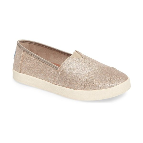 TOMS avalon slip-on in rose gold - A versatile slip-on features elastic gore insets for a...