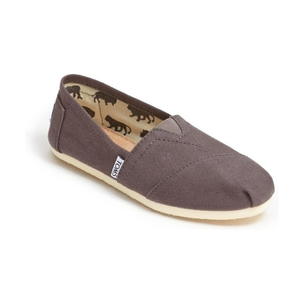 TOMS classic canvas slip-on in ash canvas