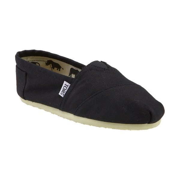 TOMS classic canvas slip-on in black