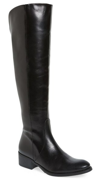Toni Pons 'tallin' over-the-knee riding boot in black leather