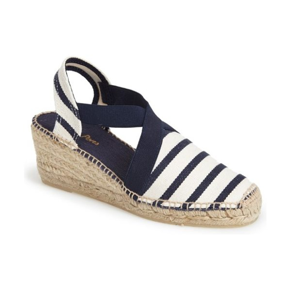 Toni Pons 'tarbes' espadrille wedge sandal in blue