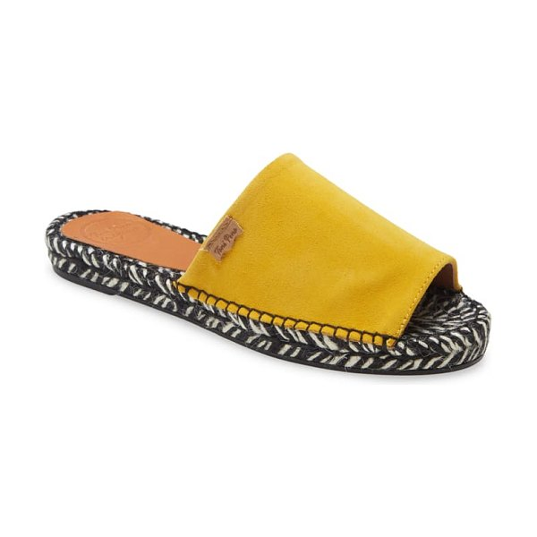 Toni Pons teide espadrille sandal in yellow suede