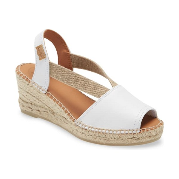 Toni Pons teide espadrille sandal in white leather