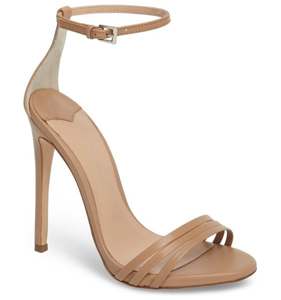 Tony Bianco aroma strappy sandal in beige - A trio of slim straps shape the toe of a barely there...