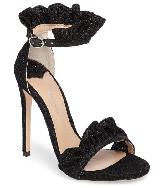 Tony Bianco ascot sandal in black rio - Frothy ruffles distinguish a striking event-ready sandal...