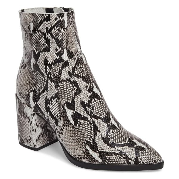 Tony Bianco brazen pointy toe bootie in natural snake print leather