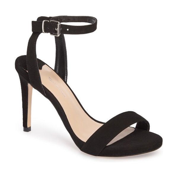 Tony Bianco char ankle cuff sandal in black suede - A slender ankle cuff adds to the subtly daring appeal of...