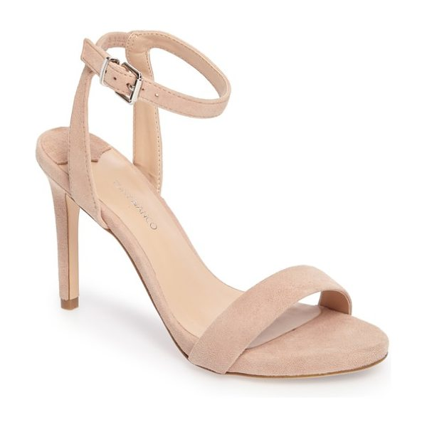 Tony Bianco char ankle cuff sandal in blush suede - A slender ankle cuff adds to the subtly daring appeal of...