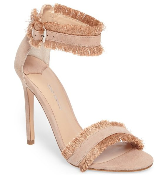 Tony Bianco kimi fringed strappy sandal in blush suede - Soft fringe frames the straps of a sky-high sandal with...