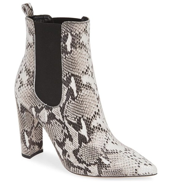 Tony Bianco lavida snake embossed pointy toe boot in natural/ snake leather