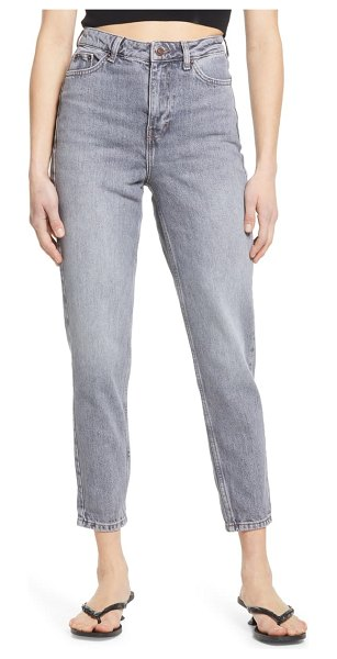 Topshop high waist mom jeans in grey