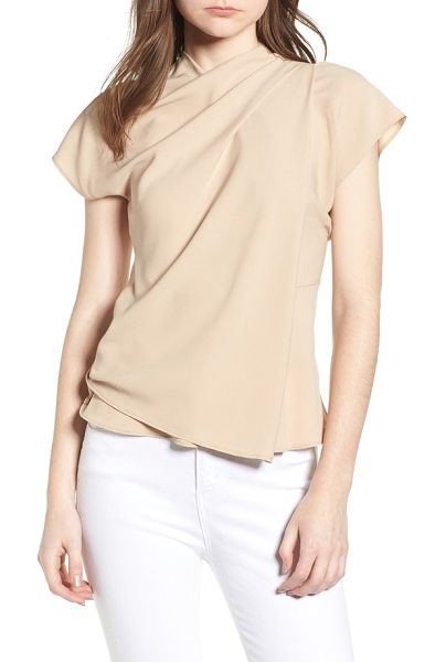 Topshop Origami Top In Beige Shopstasy