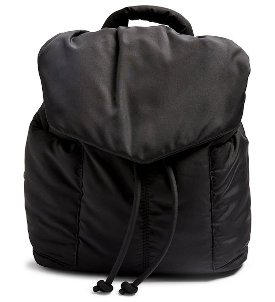Topshop puffed backpack in black