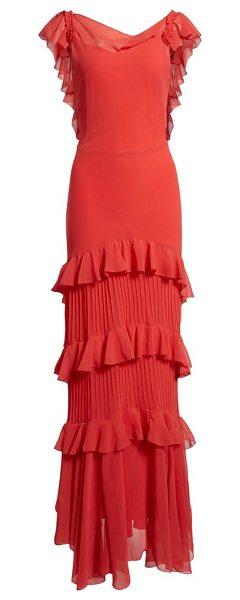 1a572ca7df5 Topshop Ruffle Maxi Dress in Red