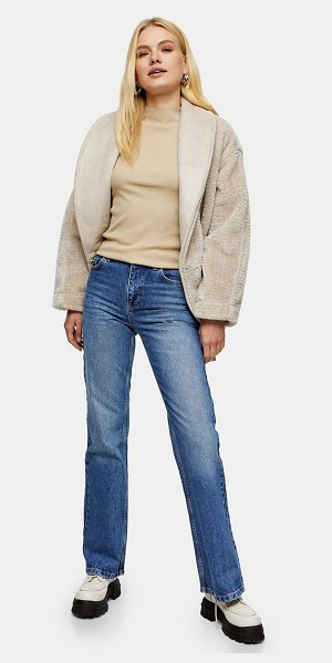 Topshop two 90s flare jeans in mid blue-blues in blues