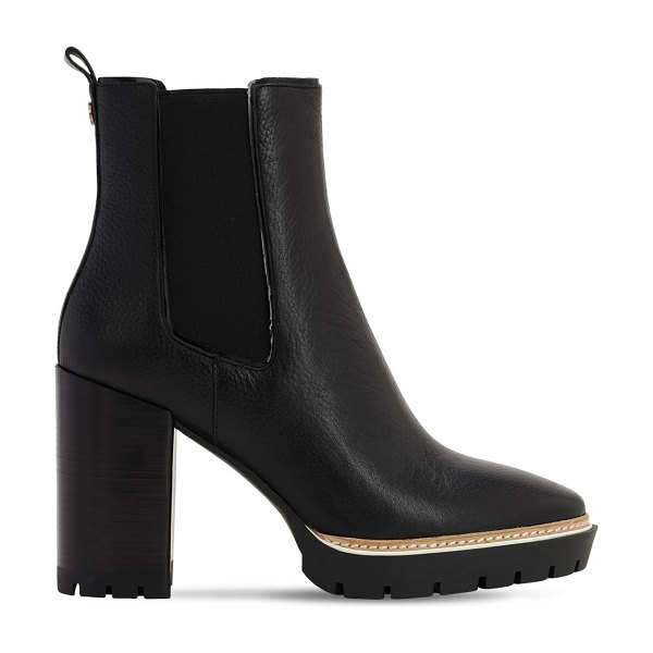 Tory Burch 100mm miller leather ankle boots in black