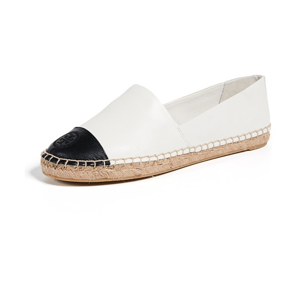 Tory Burch colorblock espadrilles in ivory/black