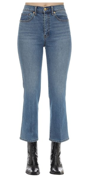 Tory Burch Cropped cotton denim jeans in light blue