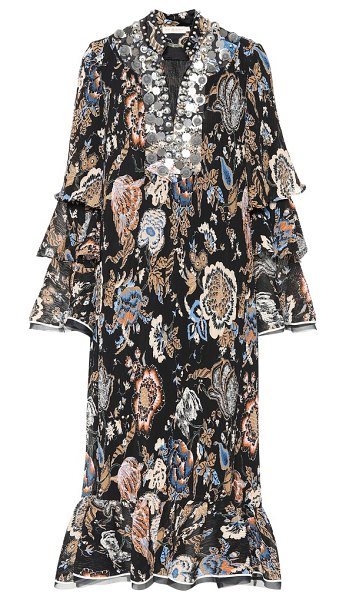 Tory Burch Dominique embellished dress in multicoloured - The Dominique dress from Tory Burch is opulent,...
